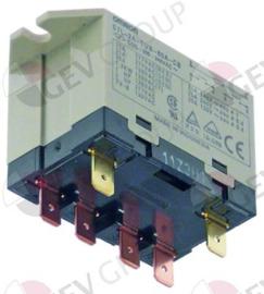 088267 -  Relais OMRON 230VAC 25A 2NO aansluiting vlaksteker 6,3mm overslagbevestiging