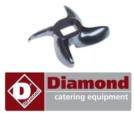 021F2044 - Mes gehaktmolen DIAMOND TS8