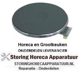 154490020 - Kookplaat ø 220mm 2600W 230V aansluiting 4 schroefklemmen met 8mm oversteekrand