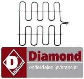 491161661 - Onderste verwarmingselement 3750W 230V voor oven DIAMOND