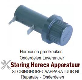166101036 - Batterijhouder passend batterijtype AA 1,5V inbouw ø 22mm aansluiting vlaksteker 2,8mm/6,3mm