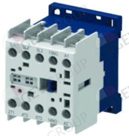 381207 - Relais AC1 20A 240VAC (AC3/400V) 9A/4kW hoofdcontact 4NO aansluiting schroefaansluiting