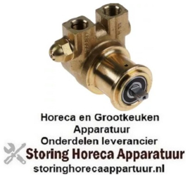 """545500230 - Drukverhogings pompkop V6105 PROCON L 82mm 180l/h aansluiting 3/8"""" NPT met bypass koper"""