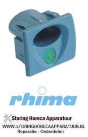 34550900122 - Elementhouder blauwgrijs inbouwpositie rechts verlicht  RHIMA