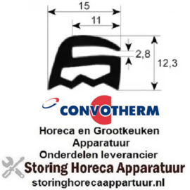 189900114 - Ovenrubber per meter CONVOTHERM