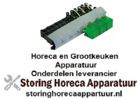 703345136 - Schakelaarcombinatie drievoudig groen 240V - 16A