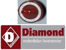 138.612.070.00 - Knop rood voor oven fornuis DIAMOND