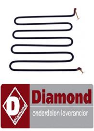 236D02105 - Verwarmingselement 3000W 230VWEERSTAND VOOR DIAMOND FTE/--- 3kW