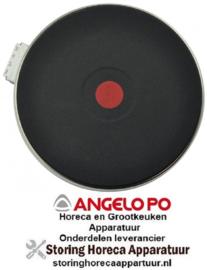 345490017 - Kookplaat ø 180 mm 2000 Watt - 400 Volt voor fornuis Angelo Po