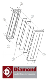 203S42MG64009 - Steun voor haak deur pizza oven ( tekening 4.5 ) DIAMOND LD18/35-N