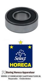 523860 - Groefkogellager type 6202-2RS schacht ø 15mm AD ø 35mm B 11mm met afdichtingsschijven Horeca-Select GFS 1025