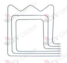 415131 - Verwarmingselement 2500W 240V L 515mm B 512mm L1 55mm L2 460mm B1 386mm B2 126mm flens L 160mm