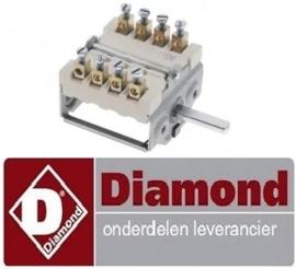 080.661.000.00 - Nokkenschakelaar 2 schakelstanden voor fornuis DIAMOND E65/4PFV7