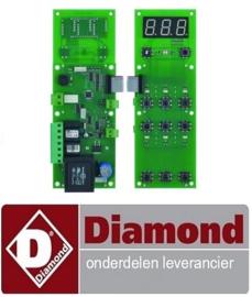 69391310258 - Bedieningsprintplaat voor pizzaoven L 230mm B 80mm aansluiting schroefklemmen DIAMOND GDX
