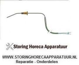 339381430 - Temperatuurvoeler thermokoppel K (NiCr-Ni) kabel silicone voeler -50 tot +1150°C