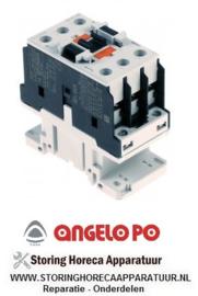 02632Z3511 - Relais AC1 56A 230VAC (AC3/400V) 32A/16kW hoofdcontact 3NO ANGELO-PO