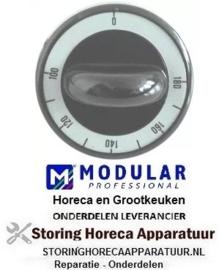 721110699 - Knop thermostaat zwart instelbereik 100-180°C MODULAR