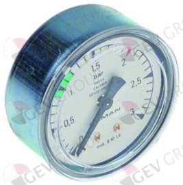 541668 - Manometer drukbereik 3bar, ø 63mm aansluiting 1/4""