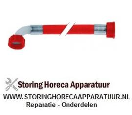 """523520463 - Toevoerwaterslang PVC recht-haaks DN12 aansluitingen 3/4"""" L 2500mm werkdruk 10bar"""