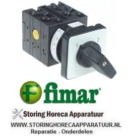 181SL2743 - Draaischakelaar 2 1-2 contactset 8 type T0-4-969I/E 400V 16A FIMAR