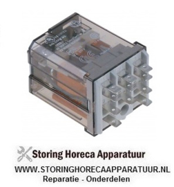 365380854 - Vermogensrelais FINDER 24VAC 16A 3CO aansluiting F4,8 roostermaat 10mm steekaansluiting