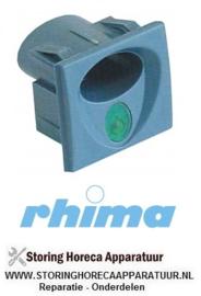 34550900123 - Elementhouder blauwgrijs inbouwpositie gecentreerd verlicht RHIMA