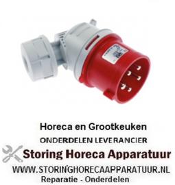 299551220 - Stekker C-Form CEE haaks 5-polig contact 3P+N+PE max. 32A max. spanning 400V bescherming IP44