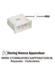 023541081 - Thermometer inbouwmaat 58x25,5mm -40 tot +40°C pijp ø 1500mm voeler ø 8mm voeler L 22mm