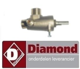 032G187 - Gaskraan t.b.v. van wok tafel DIAMOND CHINA