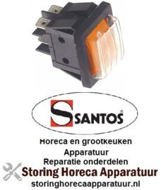 988301006 - Wipschakelaar oranje voor apparatuur SANTOS
