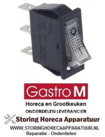 0515I100017 - Wipschakelaar wit signaallamp 250V 16A pizza oven GASTRO M