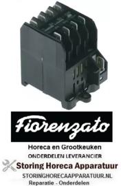 263380528 - Relais AC1 16A 230VAC (AC3/400V) 8,4A/4kW hoofdcontact 4NO Fiorenzato-M.C