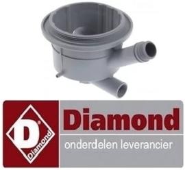 98374073 - Aanzuig - afvoerdeel voor doorschuifvaatwasser  DIAMOND D26