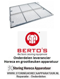 702211043 - Branderrooster lavasteenrooster L 685mm B 670mm  BERTOS