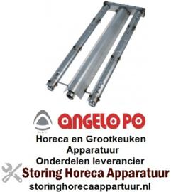 124105373 - Staafbrander 2-rijen - L 560mm - B 220mm - 9kW lavasteengrill