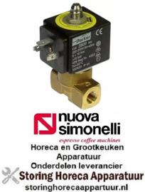 "449370234 - Magneetventiel 3-weg 230VAC aansluiting 1/8"" nominale breedte 1,2mm steekbus DIN -20 tot +130°C NuovaSimonelli"