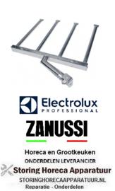 071104585 - Multigrill staafbrander 4-rijen  L 415mm B 490mm H 40mm  Electrolux, Zanussi