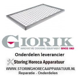 975104439 - Lavasteenrooster L 540mm B 340mm H 20mm GIORIK
