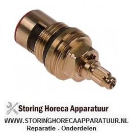 """019548419 - Keramisch kraan bovendeel adapter opname draad 1/2"""" rotatiehoek 90° warm water Dr.G2: M24x1"""
