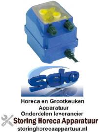 993361163 - Doseerapparaat SEKO toerentalregeling 0,15-1l/h 230 VAC naglansspoelmiddel slang ø 4x6mm slangtype D