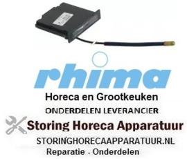 945541305 - Thermometer inbouwmaat 62x11mm +20 tot +120°C pijp ø 1500mm voeler ø 6,5mm voeler L 16mm RHIMA DR59