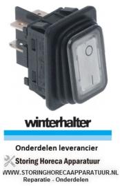 339348035 - Wipschakelaar inbouwmaat 30x22mm wit 2NO 250V 16A 0-I aansluiting vlaksteker 6,3mm WINTERHALTER