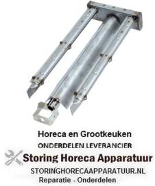 111105494 - Brander staafbrander 2-rijen L 525mm - B 200mm - H 65mm lavasteengrill
