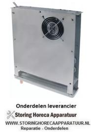 167750439 - Verdamper L 380mm H 425mm dikte 70mm inbouwpositie gecentreerd 150m³/h - 2,25m/s