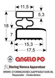 046901005 - Koeldeurrubber B 660mm L 1360mm buitenmaat  ANGELO-PO