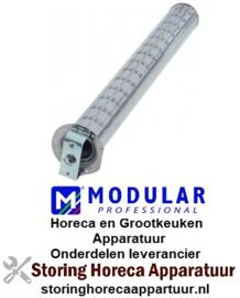 981105160 - Brander staafbrander ø 50mm L 428mm flens B 71mm kookketel flens ø 75mm