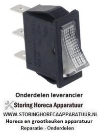 308347185 - Wipschakelaar inbouwmaat 30x11mm wit 1CO 250V 16A I-II aansluiting vlaksteker 6,3mm