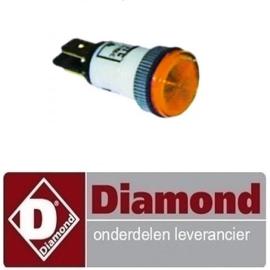 500.963.013.00 - Signaallamp ø 13mm 230V geel OVEN DIAMOND BRIO