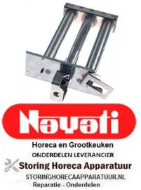 241105865 - Staafbrander 2-rijen L 360mm B 235mm H 90mm pastakoker NAYATI