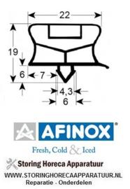 931901614 - Koeldeurrubber profiel 9794 B 645 mm L 1535 mm steekmaat AFINOX